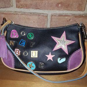 Lindsey Lohan vintage heart and charms bag